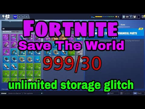 UNLIMITED STORAGE GLITCH (very easy) - fortnite save the world