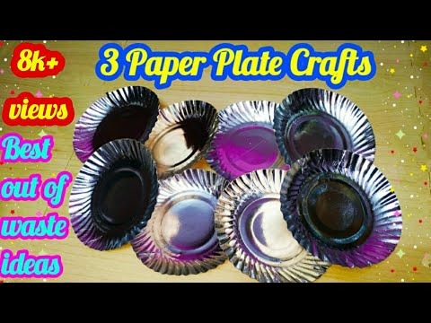 3 Paper Plate Crafts | Best Out of Waste Ideas | Waste Material Craft Ideas | DIY | sweety trendzzz