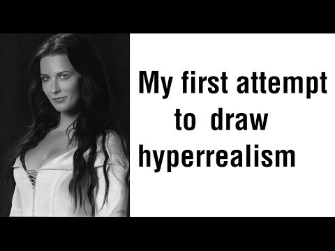 My best drawing so far. Hyper realism. Bridget Regan – Legend of the Seeker.