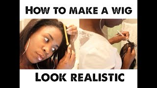 How to make a wig look REALISTIC |  Wow African Review Thumbnail