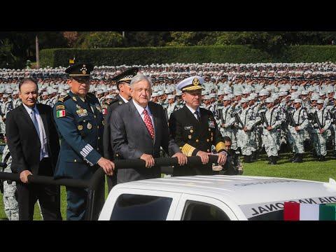Ceremonia de Inauguración de la Guardia Nacional en Campo Marte