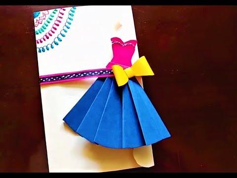 Birthday Day Card Handmade | Card for Friend | DIY Dress Card | Card for Mother