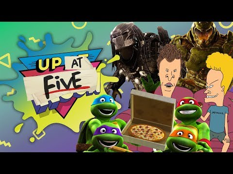 Up At Noon (At Five) LIVE!: New TMNT, Beavis & Butt-Head, & Alien Vs. Predator Vs. Marvel