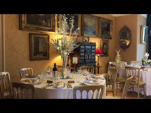 Leighton Hall, Lancashire - Wedding Breakfast set your for the guests to enjoy