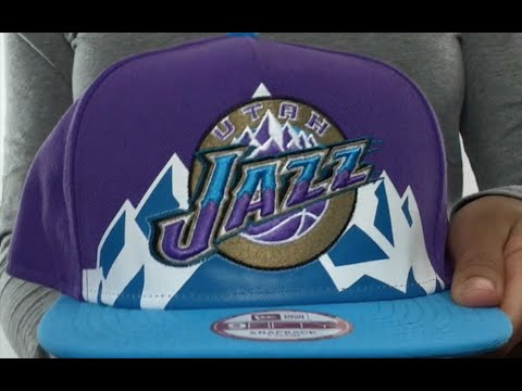 Jazz  NBA JERSEY MURAL SNAPBACK  Hat by New Era - YouTube 0c320af86a2