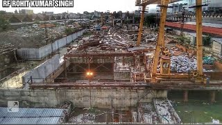 UNDER CONSTRUCTION OF METRO AT HOWRAH RAILWAY STATION BETWEEN 14 AND 15 PLATFORM