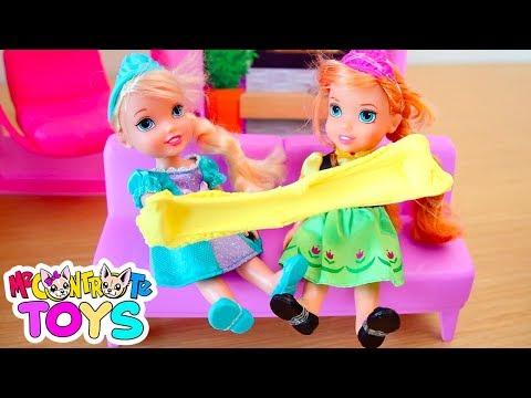 ELSA & ANNA SLIME! La zia ha portato i regali! - Me contro Te Toys