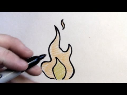how to draw fire youtube
