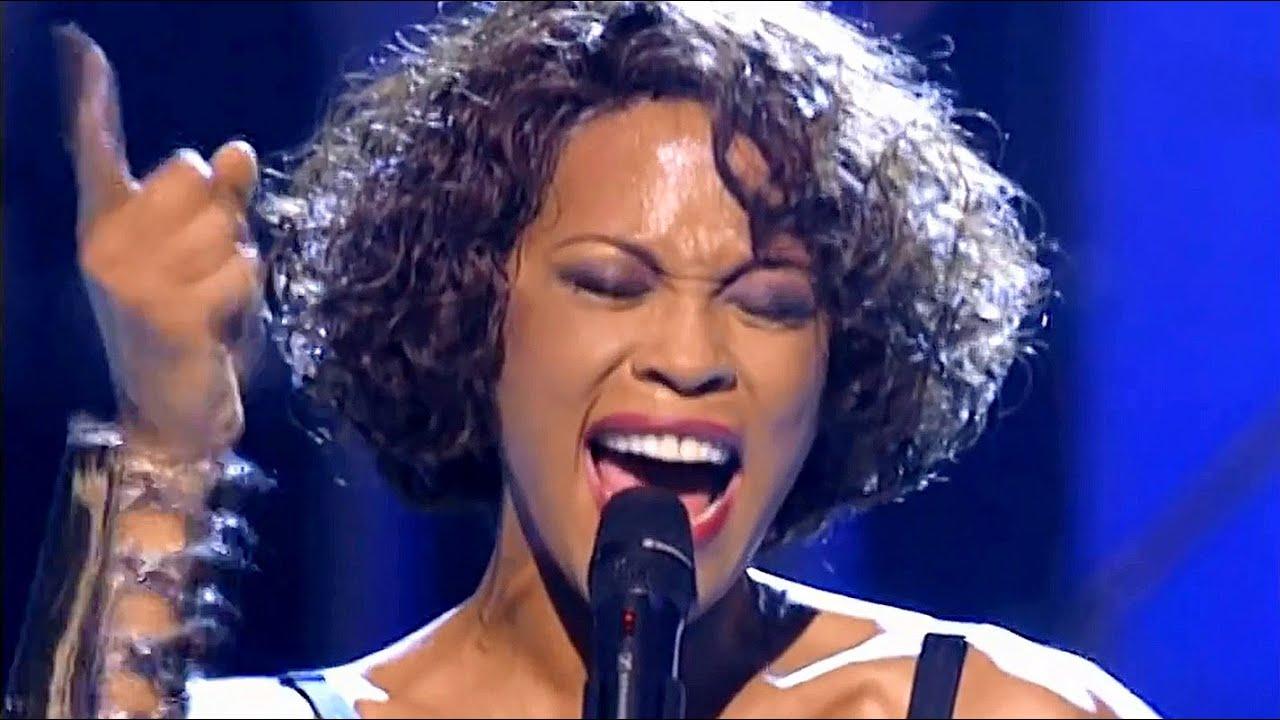 Whitney Houston Hairstyles If Famous Singers Hit And Iiiiiyeahh Of Whitney Houston Live