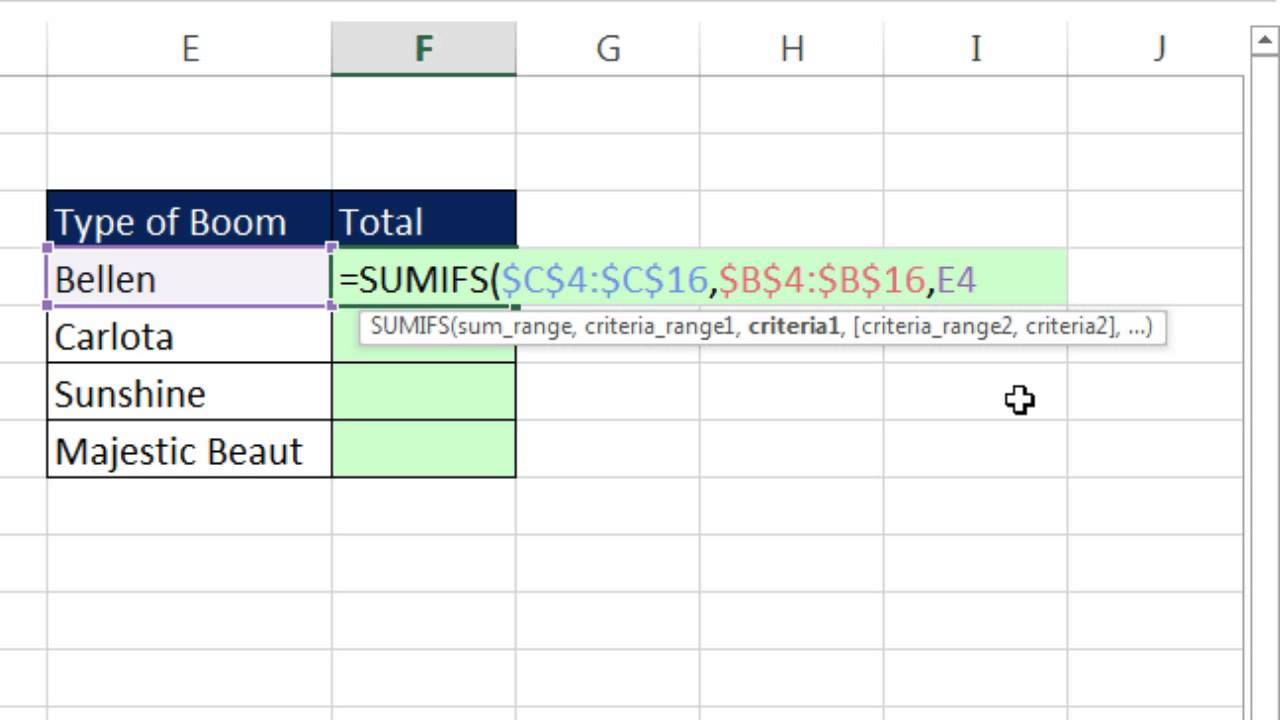 Excel Magic Trick 1237 Add With Contains Criteria Or Partial Text
