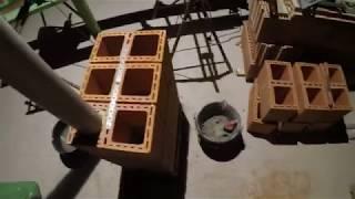 Murowanie komina wentylacyjnego - Rozbudowa domu z 1938r