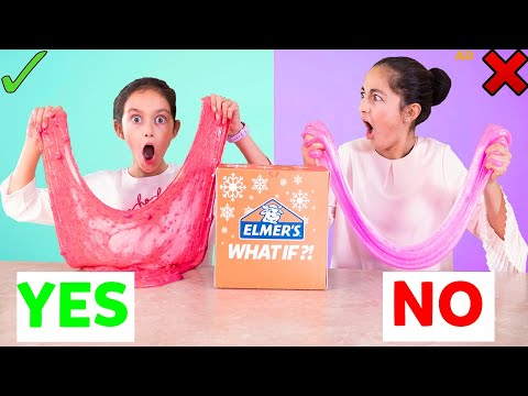 Holiday Slime Challenge - Who Knows Me Better? Sis Vs. Sis!!! #ElmersWhatIf