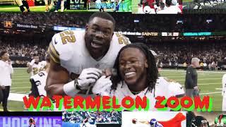 Watermelon zoom look at the detail mark Ingram/ Alvin Kamara NFL Clowns