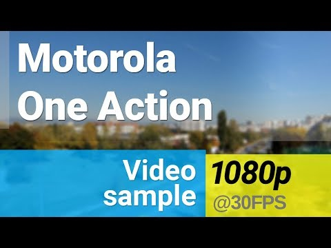 Motorola One Action 1080p/30fps video sample - action camera
