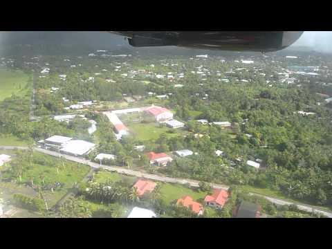 Flight   Fagalii to Pago Pago Landing at Pago Pago Airport