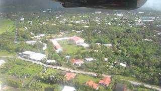 Flight   Fagalii to Pago Pago Landing at Pago Pago Airport