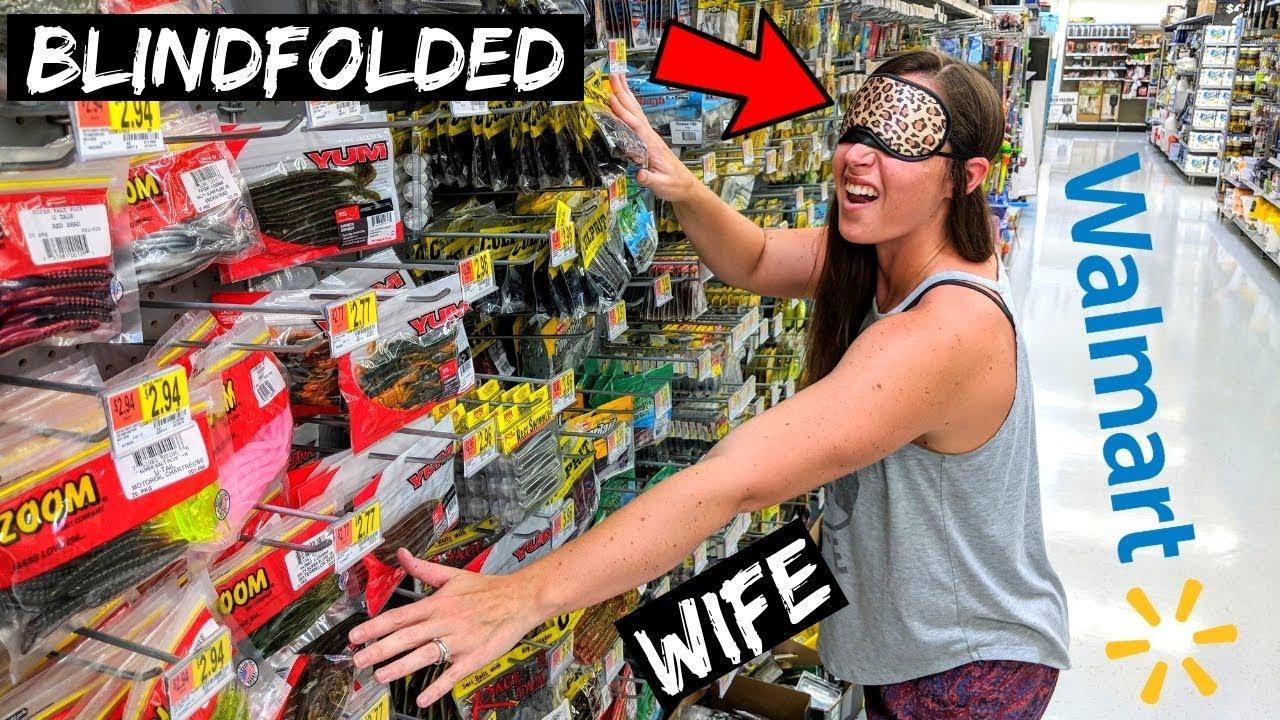 Blindfolded Wife Picks My Fishing Lures Hilarious Youtube