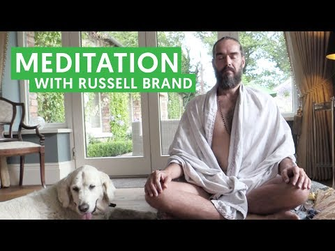 Meditating with Russell Brand
