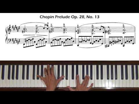 Chopin Prelude Op. 28, No. 13 In F-sharp Major Piano Tutorial