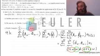 0.Exercice n°13. Inversion de sommes - Prépa HEC - ECS - ECE