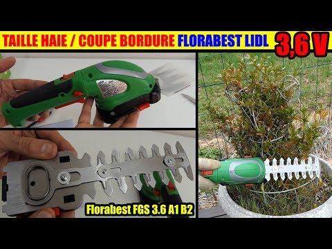 Coupe-bordures taille-haies LIDL FLORABEST FGS A1 B2 sans fil Cordless Grass & Shrub Trimmer