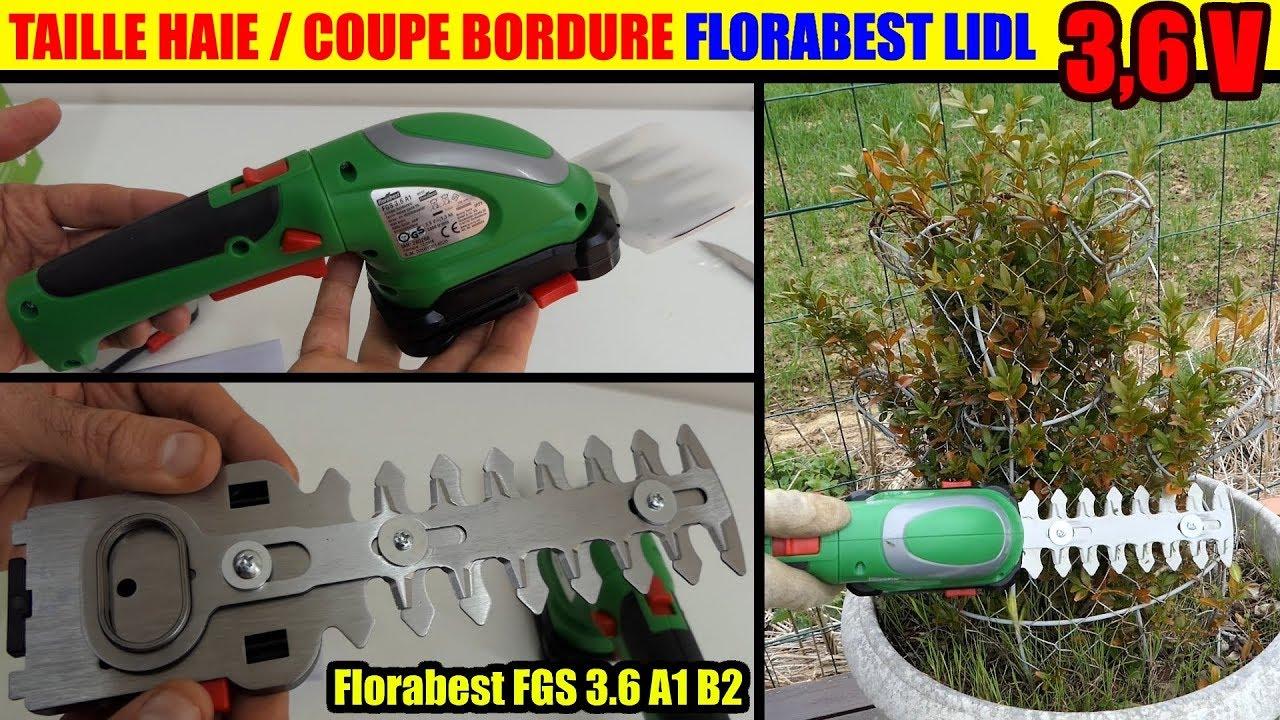 coupe bordures taille haies lidl florabest fgs a1 b2 sans fil cordless grass shrub trimmer