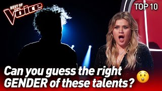 The most SURPRISING GENDER REVEALS on The Voice PART 2 | Top 10