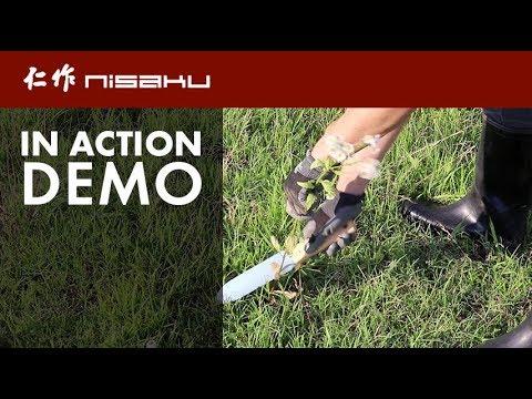 NJP640 - Nisaku Stainless Steel Weeding Knife, 7.25 in. Blade - Live Demo