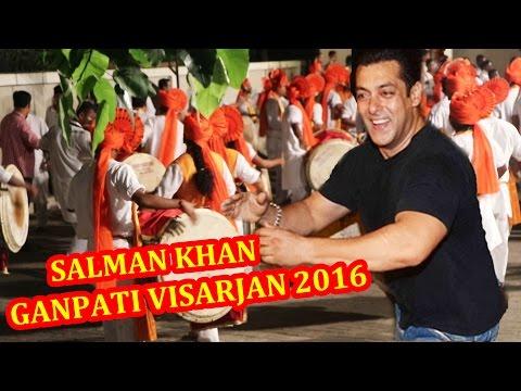 Salman Khan's Ganesh Visarjan 2016 - FULL...