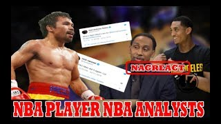 NBA PLAYER | NBA ANALYSTS | NagREACT sa PAGKAKAPANALO ni MANNY PACQUIAO