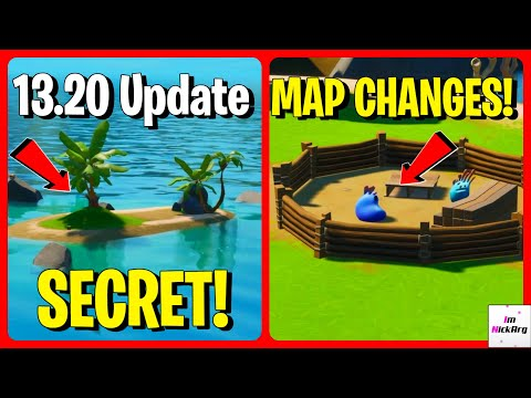 *NEW* 13.20 Update MAP CHANGES! (Secret Island, Water LOWER & MORE) | Fortnite