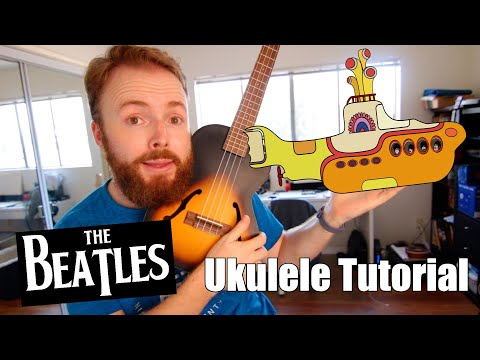 Yellow Submarine - The Beatles (Easy Ukulele Tutorial)