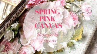 Spring Pink Canvas Stamperia Friends