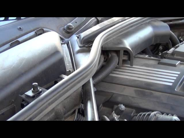 Bmw 5 Series Cabin Air Filter Micro Filter Diy Replacement Removal And Installation Youtube
