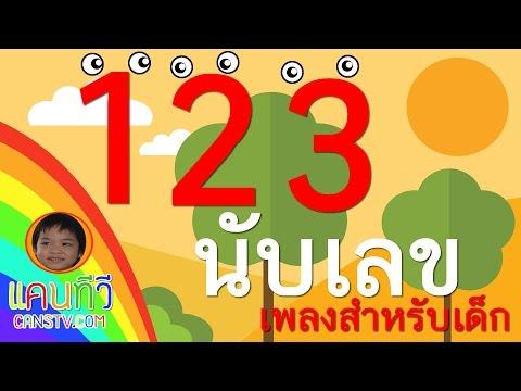 สอนนับเลข 1 ถึง 10 ภาษาไทย สำหรับเด็กอนุบาล