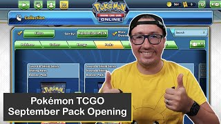 Virtual Pack Opening for the Pokémon Trading Card Game Online (TCGO), September Edition