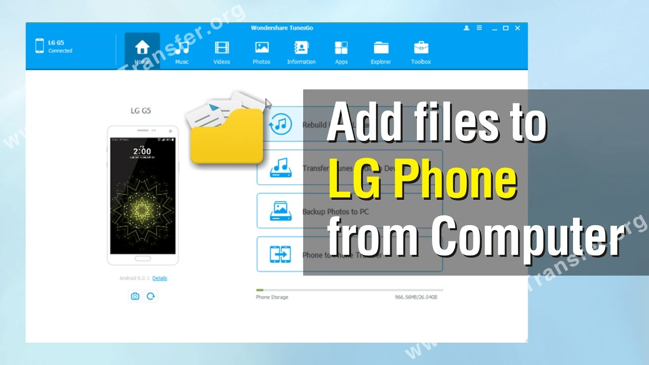files to LG Phone | How to Transfer files from Computer to LG Phone