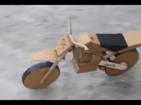 Cara Membuat Kerajinan Tangan Motor Dari Kardus Bekas