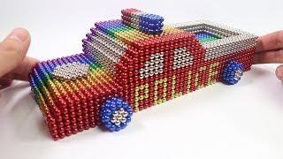 كيفية جعل سيارة الشرطة مع المغناطيس ● سيارة من المغناطيس