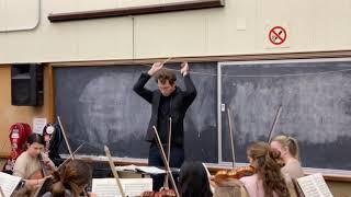 Brahms Symphony no. 1, mvt IV - rehearsal with University of Toronto Symphony Orchestra