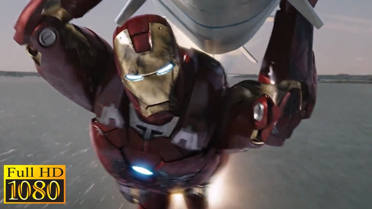 the avengers (2012) - iron man saves new york city & hulk saves iron