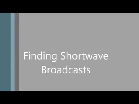 Tutorial - Finding English Shortwave Broadcasts