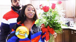 ANOTHER GUY BOUGHT ME FLOWERS PRANK ON BOYFRIEND! FUNNY AF!