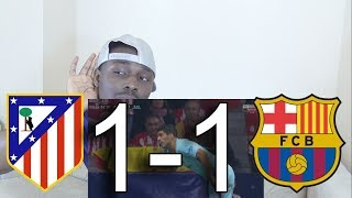 Atletico Madrid VS FC Barcelona 1-1  All Goals Reaction