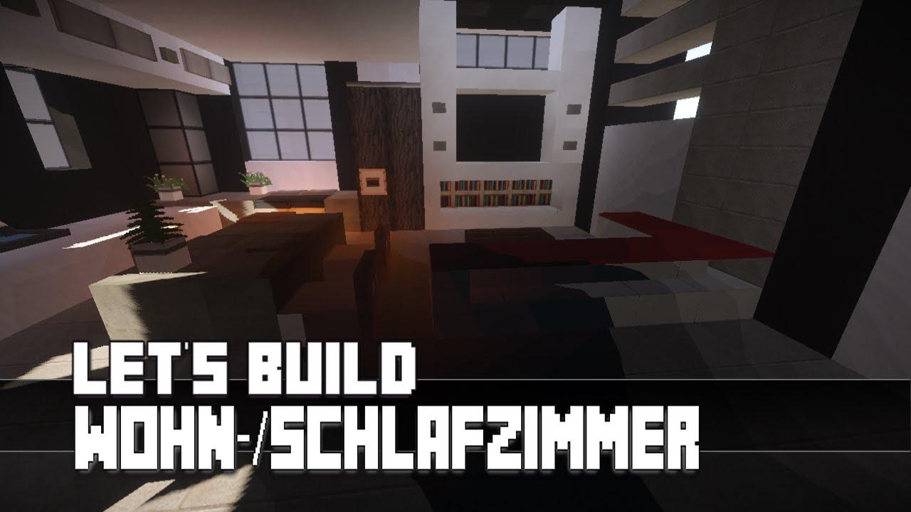 Minecraft :: Möbel Tutorial :: Modernes Wohn-/Schlafzimmer #5 [Haus Nr. 9]