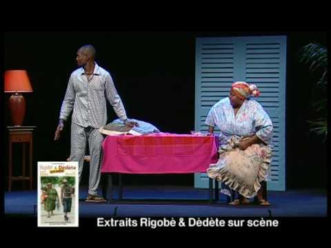 rigobè et dèdète sur scène