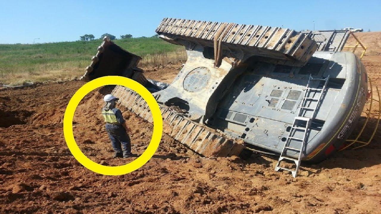 TOP IDIOTS DANGEROUS Heavy Equipment Truck Excavator Operator - Excavator Fail