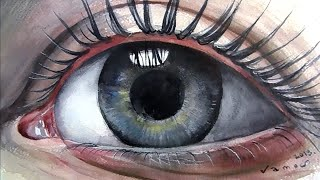 How to Paint Eye with Watercolour - Drawing and Painting Step by Step - Not Too Fast