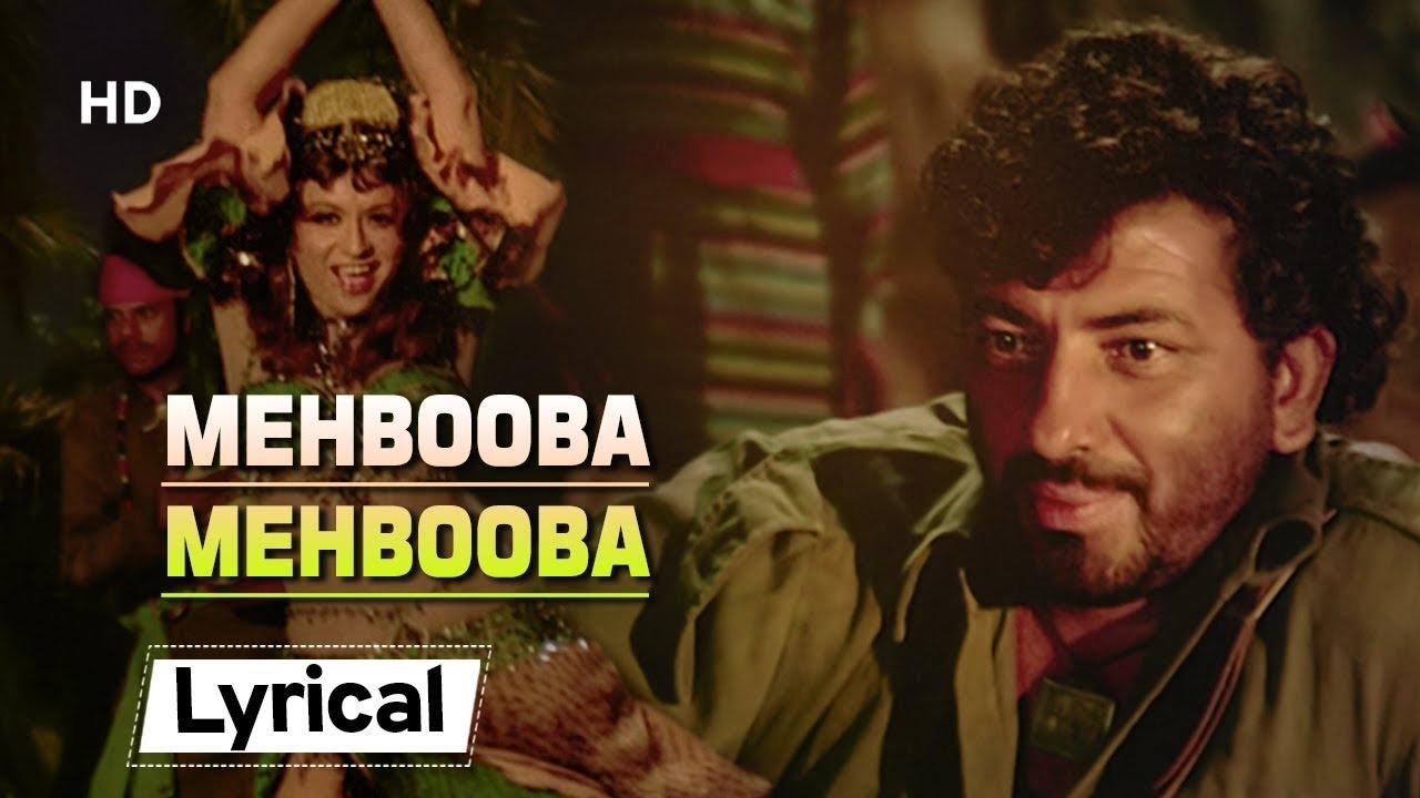 Mehbooba Mehbooba With Lyrics | मेहबूबा मेहबूबा ...
