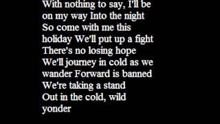 Oliver Boyd and the Remembralls-Cold wild yonder lyrics
